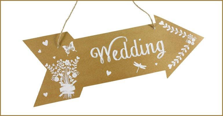 Pancarte Lieu Ceremonie Mariage