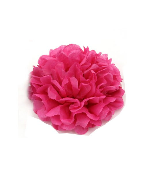 Pompon Rose Fushia 15cm