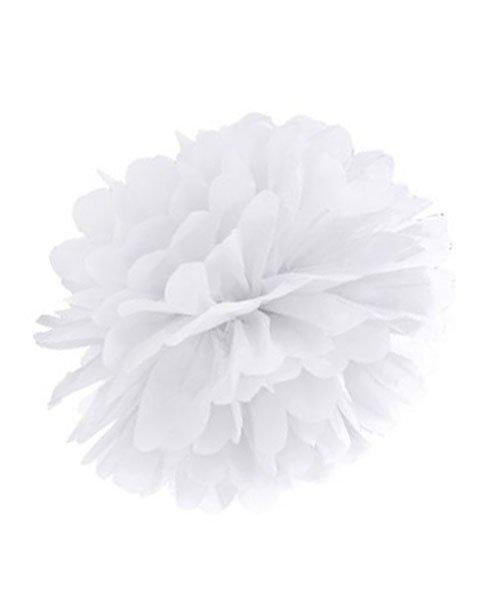 Pompon Mariage Blanc 20 cm