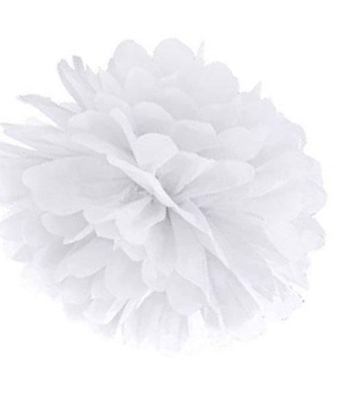 Pompon Mariage Blanc 25 cm