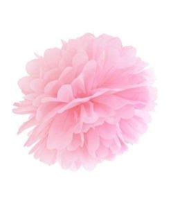 Pompon Mariage Rose 20 cm