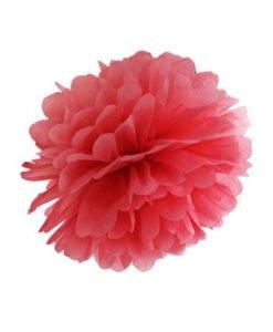 Pompon Rouge Mariage 20 cm