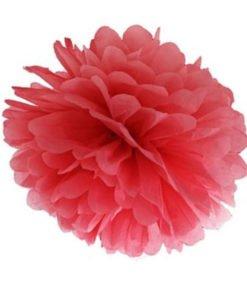 Pompon Mariage Rouge 25cm