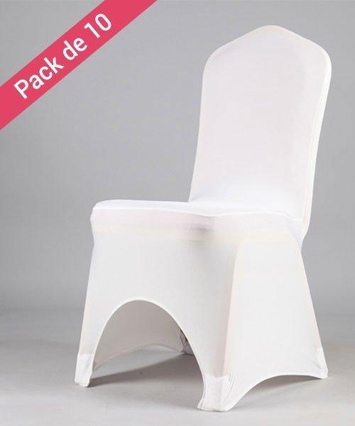 Housses de chaises Tissu Mariage Blanc