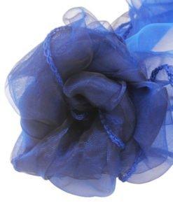 Tissu Bleu Navy Mariage Organza Arche