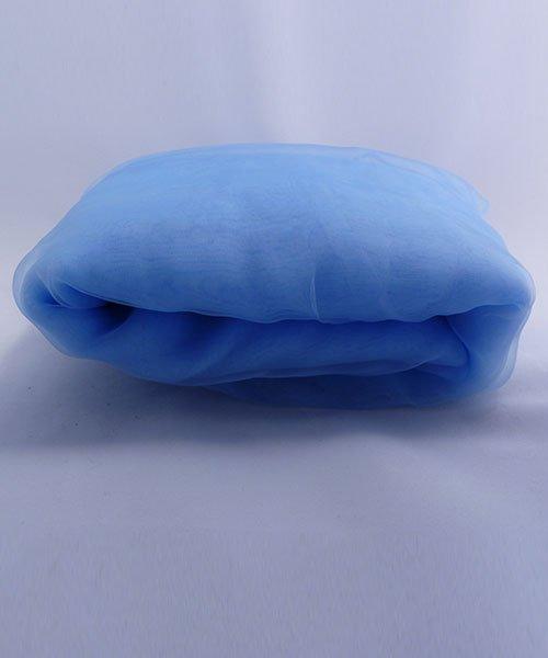 Tissu Organza Tulle Bleu Mariage