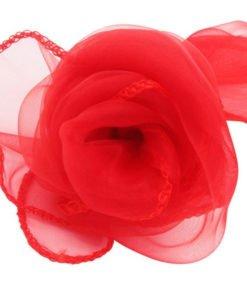 Tissu Rouge Mariage Organza Arche