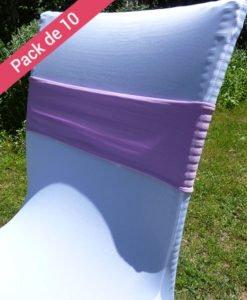 10 Bandeaux de chaises rose mariage