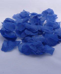 Petales Tissu Mariage Fleur Bleu