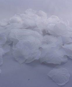 Petales Tissu Mariage Fleur Blanche