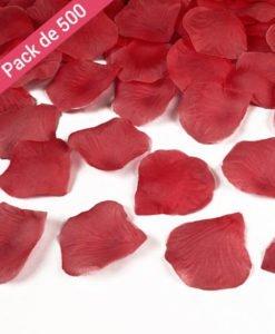 500 petales Mariage rouges
