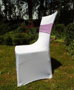 Bandeaux de chaises rose mariage