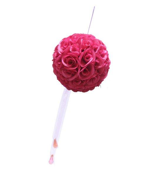 Boule de fleurs mariage fushia