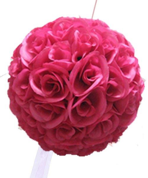boule de fleur mariage suspendre fushia olilly. Black Bedroom Furniture Sets. Home Design Ideas