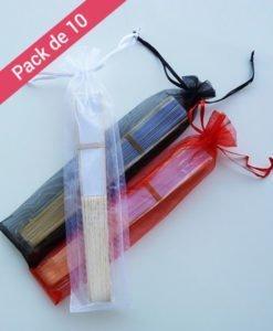 pack 10 pochettes pour éventails de couleur