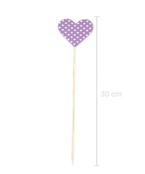 Coeur sur pique Violet