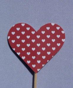 Coeur sur piques Rouge