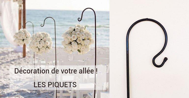 Piquets Cérémonie Laique