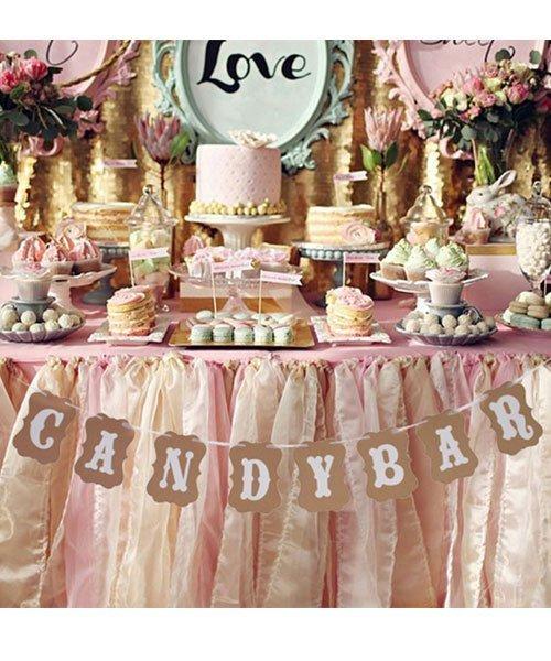 Banderole Candy Bar Pour Décoration De Mariage