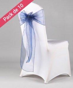 Noeuds de chaises Mariage Bleu
