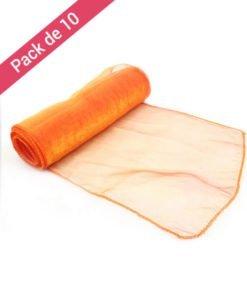 Noeuds de Chaises Orange Mariage