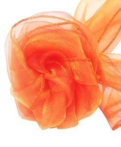 Tissu Orange Mariage Organza Arche