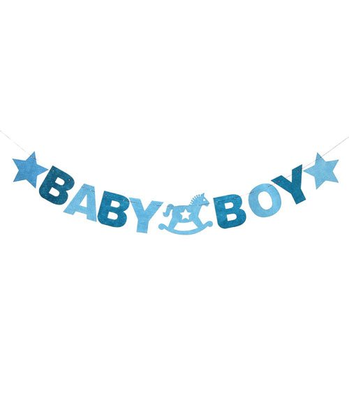 Banderole Baby Shower Garcon Feutrine