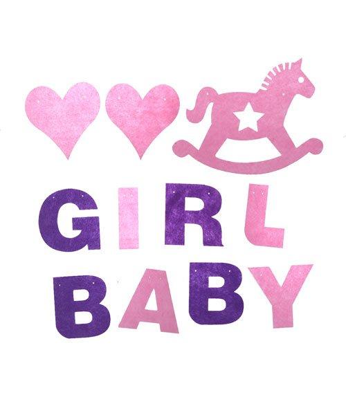 Banderole Baby Shower Fille Feutrine