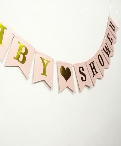 Banderole Baby Shower Or