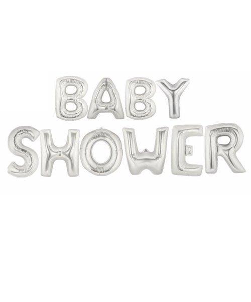 Ballon Baby Shower Argent