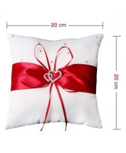 Coussin Rouge Porte Alliance Mariage