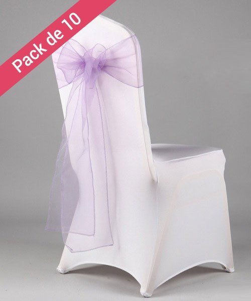 Noeuds De Chaises Pour Mariage Lavande Pack 10