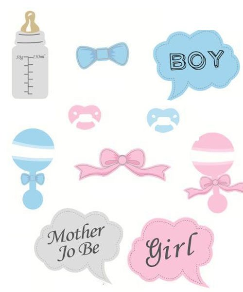 Kit photobooth Mixte babyshower