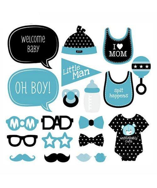 Photobooth Babyshower 20 Pièces