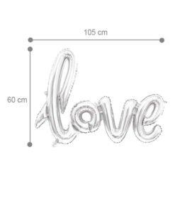Ballon Love XXL Argent