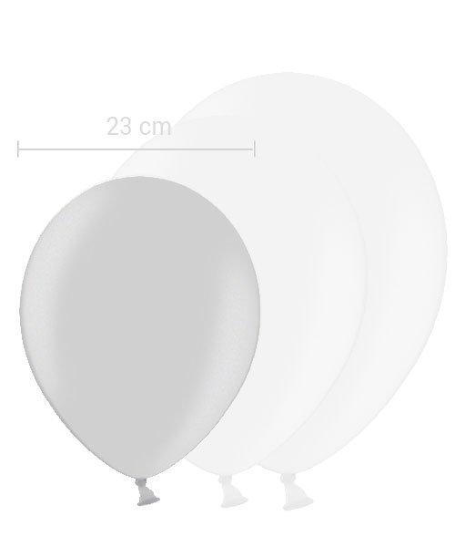 Ballon Argent 23 cm