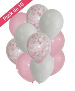 Ballons Confettis Baby SHower Fille