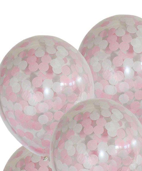 Ballons Confettis Baby SHower Fille