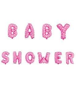 Ballon Lettre Baby Shower Rose