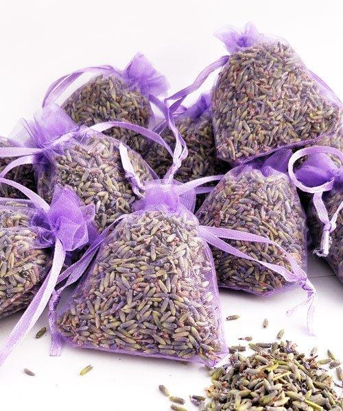10 sachets violet avec lavande pour mariage bonheur ecologique - Sachets de lavande pour armoire ...