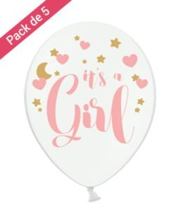 Ballon It's a Girl pour Baby Shower Fille