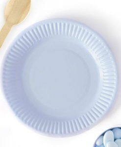 Assiettes en carton bleues