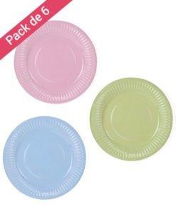 Assiettes en carton mixte