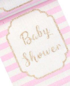 Chemin de table baby shower fille