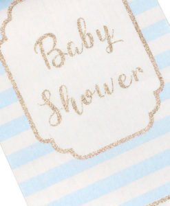 Chemin de table baby shower garçon