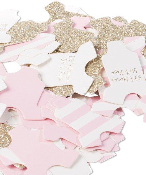 100 Confettis Body pour Baby Shower Fille - % 2481cf7793e