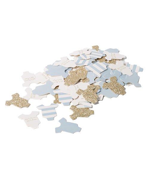 100 Confettis Body pour Baby Shower Garçon - % e246fa2b354