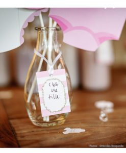 Etiquette Baby Shower Fille
