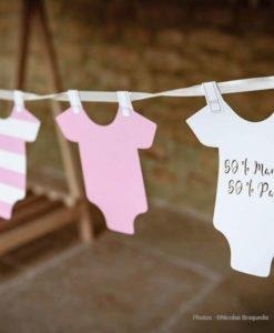 Guirlande Body Pour Baby Shower Fille