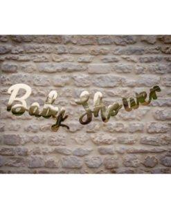 Guirlande lettres Or Babyshower